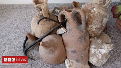 Photo of Roman jars found in Spanish seafood shop