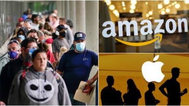 Photo of Amazon posts record profits as Apple thanks stimulus aid for forecast-beating earnings, despite worst US quarter on record