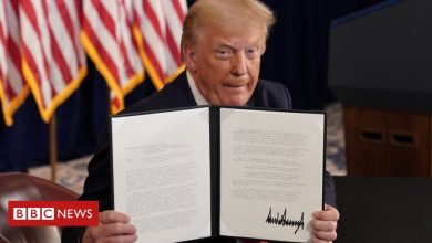 Photo of Coronavirus: Trump signs relief order after talks at Congress collapse