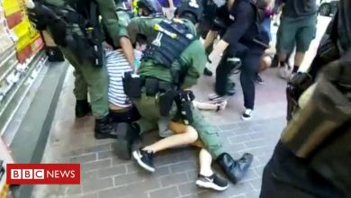 Photo of Hong Kong protests: Police tackle 12-year-old girl to the ground
