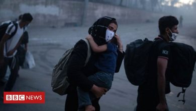 Photo of Moria migrants: Greek camp fire sparks race to find shelter for 13,000