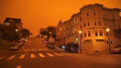 Photo of US wildfires: San Francisco residents react to orange skies