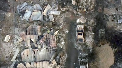 oregon-wildfires:-drone-footage-shows-homes-completely-wiped-out