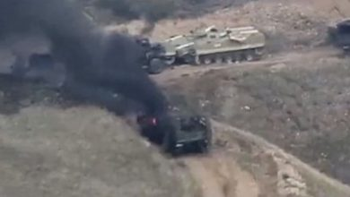 Photo of Armenia-Azerbaijan conflict: Tanks ablaze as fighting erupts over disputed region