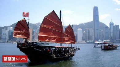 Photo of Hong Kong's last authentic junk in troubled waters