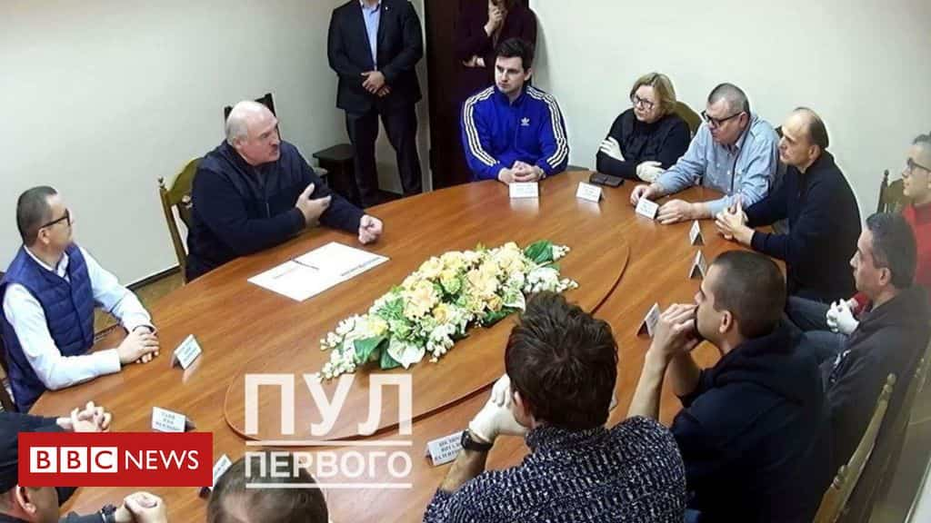 belarus-protests:-lukashenko-holds-meeting-with-opponents-in-jail