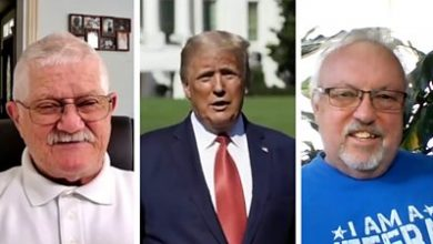Photo of Trump-aged Covid survivors on the president and the pandemic