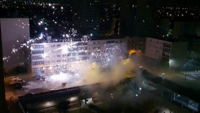 Photo of Police station near Paris attacked with fireworks