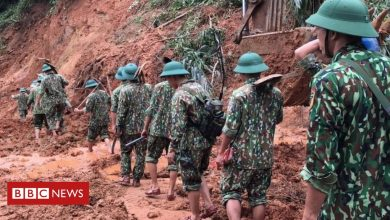 Photo of Vietnam landslide: Rescuers search for survivors at barracks
