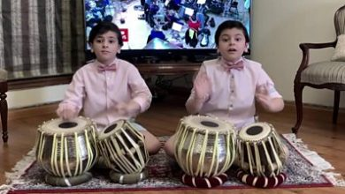 Photo of Brothers play tabla to the BBC theme tune