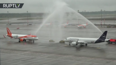 Photo of WATCH: Planes complete inaugural landings as 'laughing stock' Berlin airport finally takes off