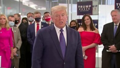 Photo of US election: Trump visits campaign headquarters – 'Winning is easy, losing is never easy'