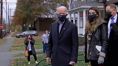 us-election:-joe-biden-visits-childhood-home-in-pennsylvania,-signs-message-on-wall