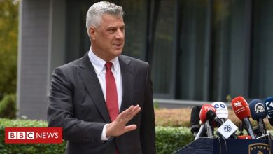 Photo of Kosovo leader Thaci in Hague detention over war crimes charges