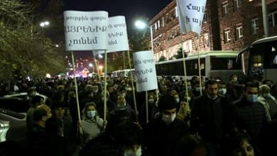 Photo of Nagorno-Karabakh: Armenian protests urge 'traitor' PM to quit