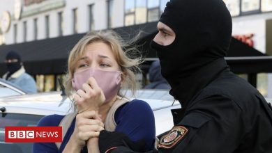 Photo of Belarus protesters battered, bruised but defiant after 100 days