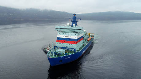 russia's-latest-&-most-powerful-nuclear-icebreaker-sets-off-on-maiden-arctic-voyage