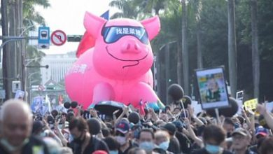 Photo of Taiwan protesters march against US pork imports