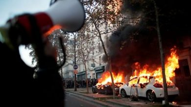 Photo of Paris: Tear gas and fires at protest against police violence