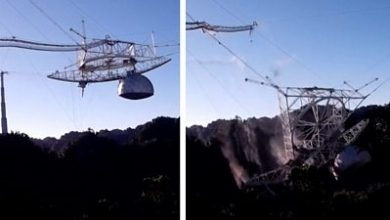 Photo of Puerto Rico: The moment the Arecibo Observatory telescope collapsed