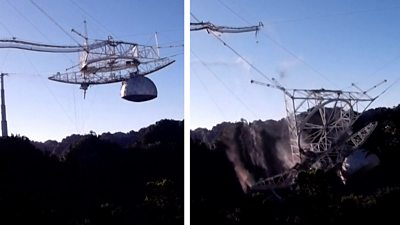 puerto-rico:-the-moment-the-arecibo-observatory-telescope-collapsed