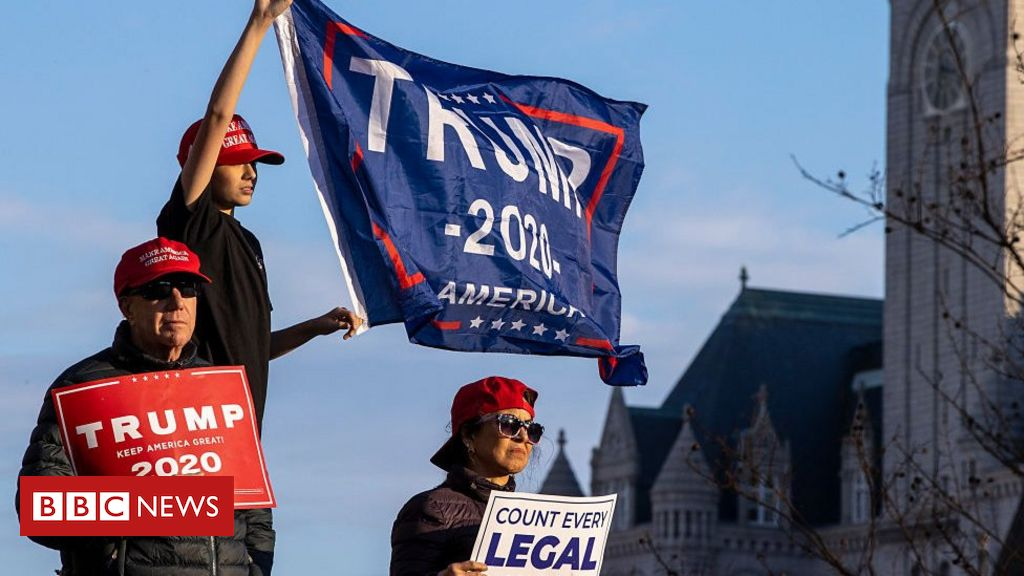 us-election:-pro-trump-rallies-see-scuffles-in-us-cities