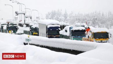 Photo of Japan: Snow traps 1,000 drivers in frozen traffic jam