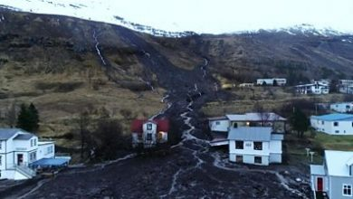Photo of Iceland: Town of Seydisfjordur evacuated after mudslide hits