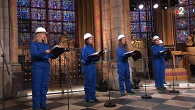 Photo of Notre-Dame: Choir sings inside cathedral for first time since fire