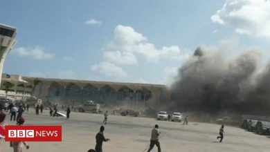 Photo of Yemen war: Explosions at Aden airport as new government arrives