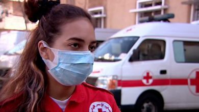 Photo of Lebanon ambulance driver: 'Hospitals can't take our Covid patients'