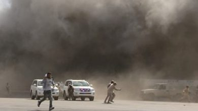 Photo of Yemen war: Video shows moment Aden airport attacked