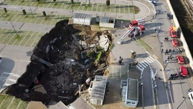 Photo of Huge sinkhole appears in Italy hospital car park