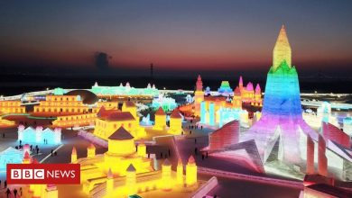 Photo of Building frozen castles at China's Harbin Ice Festival