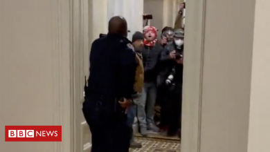 Photo of Capitol police officer Eugene Goodman hailed as 'a hero'