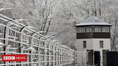 Photo of Nazi Buchenwald camp no place for sledging, authorities warn