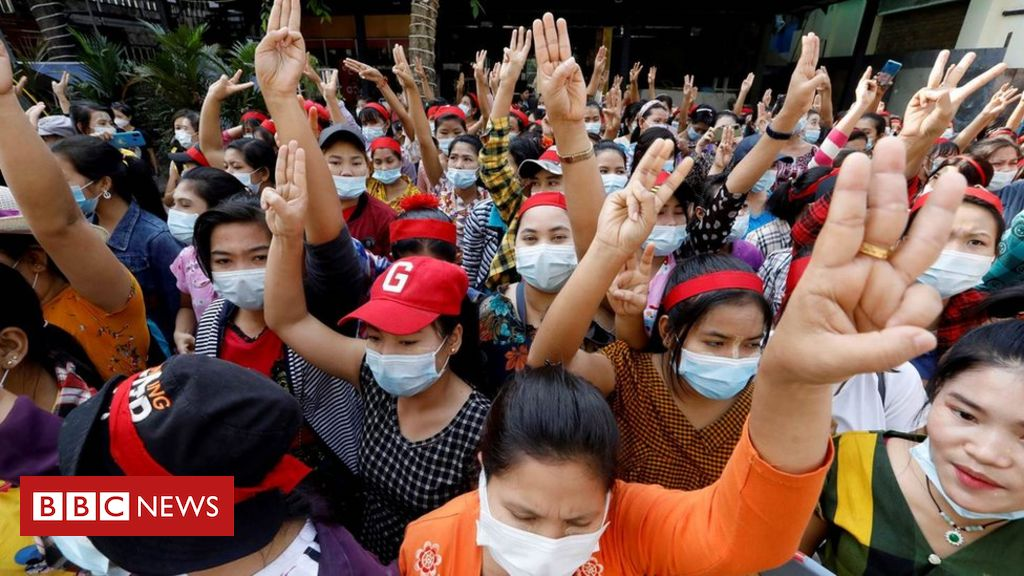 myanmar-coup:-internet-shutdown-as-crowds-protest-against-military