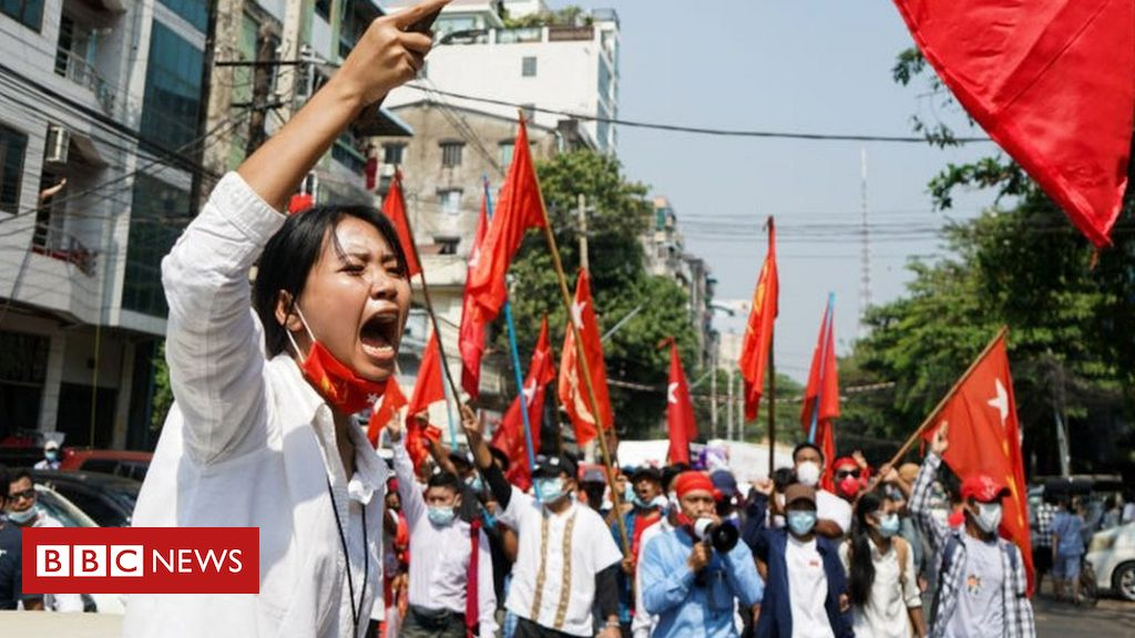 myanmar-coup:-tens-of-thousands-join-largest-protests-since-2007