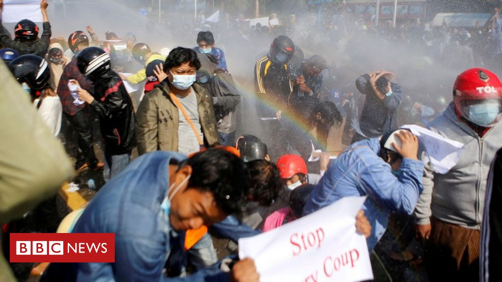myanmar-coup:-police-fire-rubber-bullets-as-protesters-defy-ban