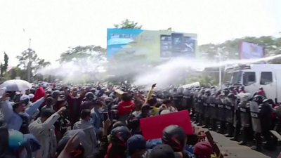 myanmar-coup:-police-fire-rubber-bullets-at-protesters