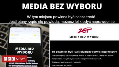 Photo of Polish blackout protest in private media over tax plan