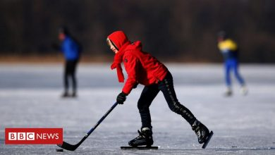 Photo of In pictures: Joy for Dutch as canals freeze over