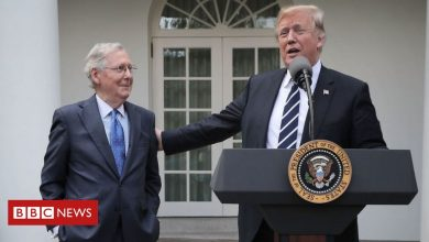 "Photo of Trump attacks ""dour"" leader Mitch McConnell"