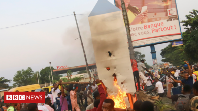 Photo of DR Congo's mysterious metal monolith destroyed by mob