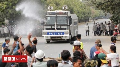 Photo of Myanmar coup: At least two killed as police disperse protesters