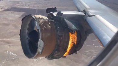 Photo of US plane engine fire: 'I just knew something was wrong'