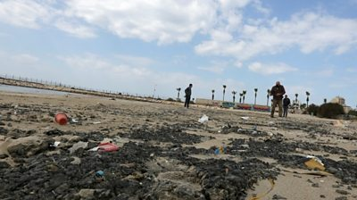 clear-up-of-israel's-coastline-after-oil-spill-continues