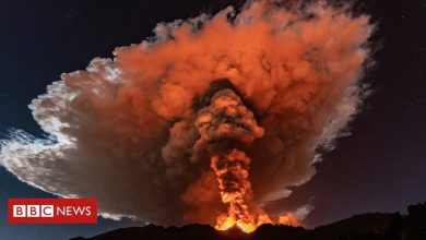 Photo of In Pictures: Mount Etna eruption lights up Sicily's night sky