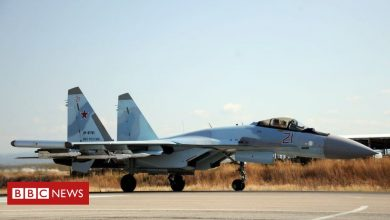Photo of Syria war: Russian jets 'bomb IS positions in desert region'