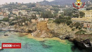 Photo of Italy landslide pushes hundreds of coffins into the sea